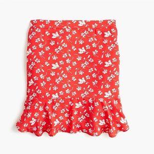 J.crew ruffle-hem mini skirt size 0